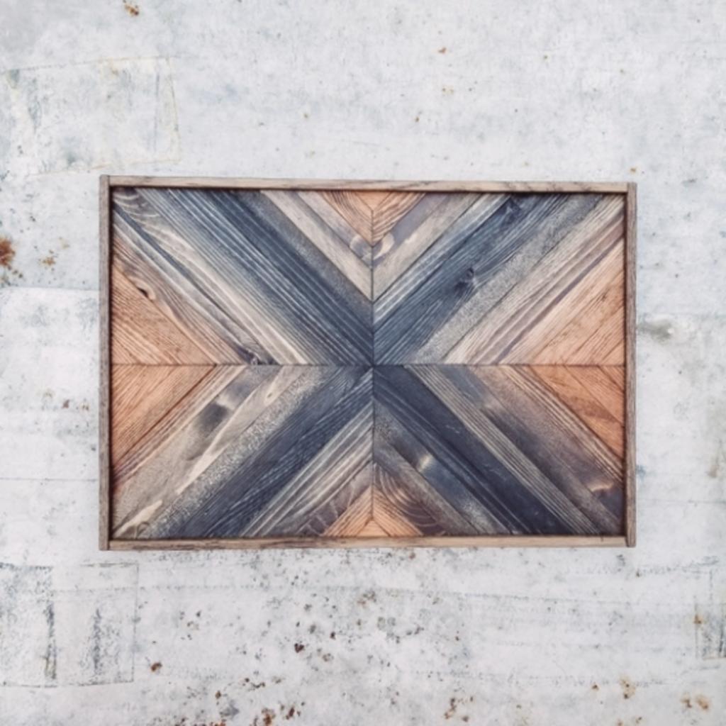 Wood Mosaic Wall Decor - Summer Storm (11x16)