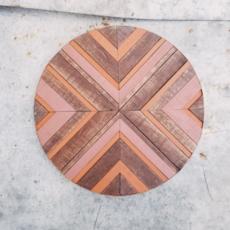 "Wood Mosaic Wall Decor - Sugar Maple (12"")"