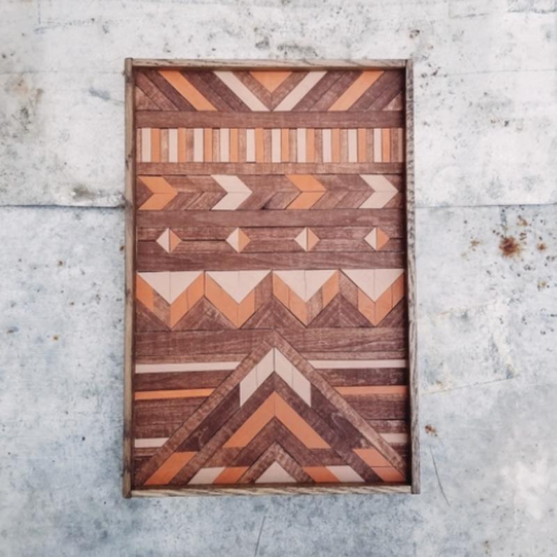 Wood Mosaic Wall Decor - Harvest (12x18)