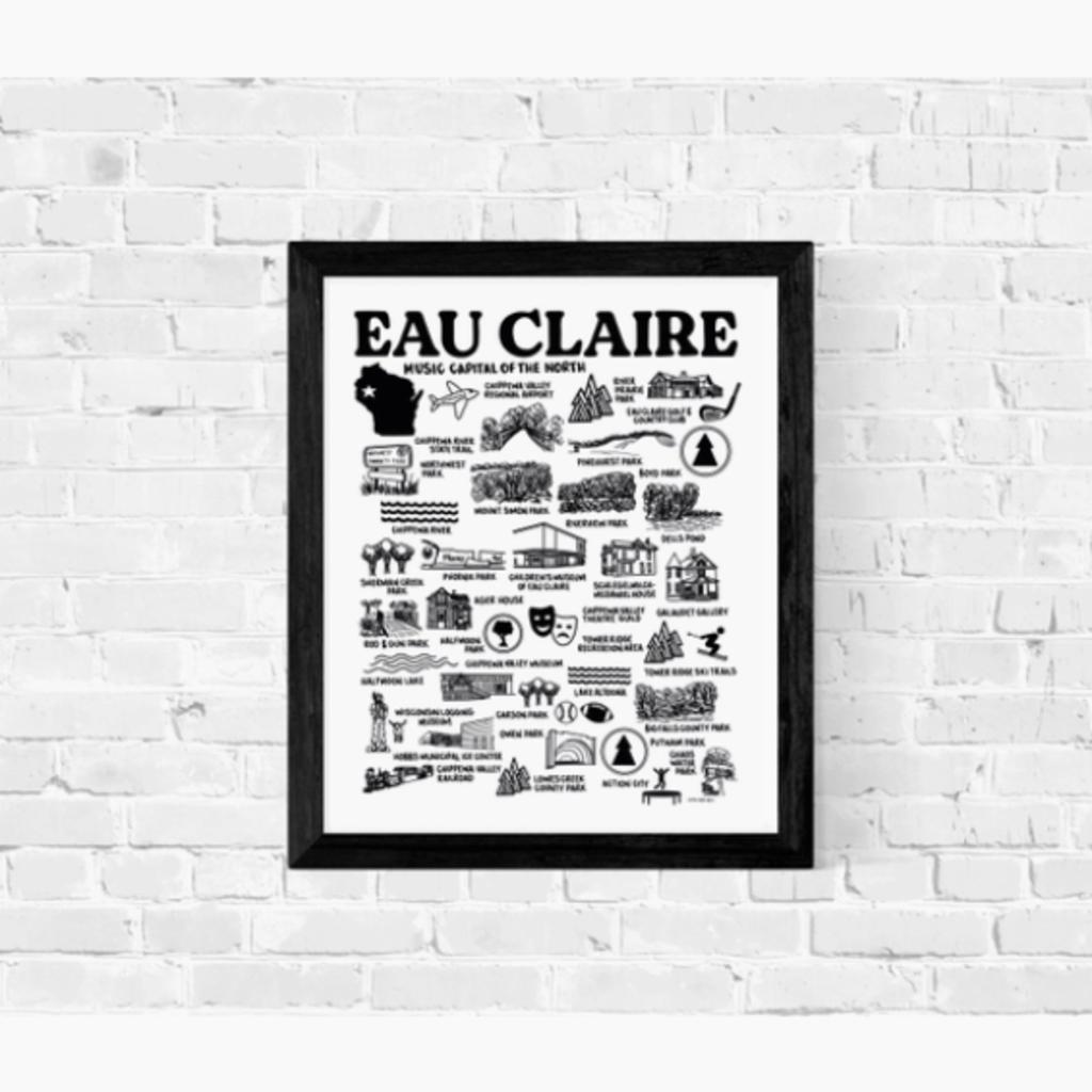 Print - Eau Claire Features Map