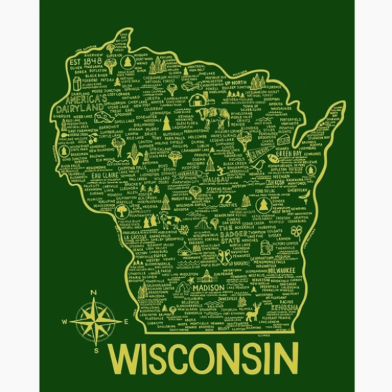 Print - Wisconsin Feature Map