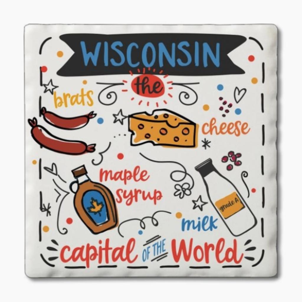 Volume One Coaster Set - Wisconsin Foods (4 Pack)