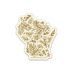 Sticker - Wisconsin Leaves