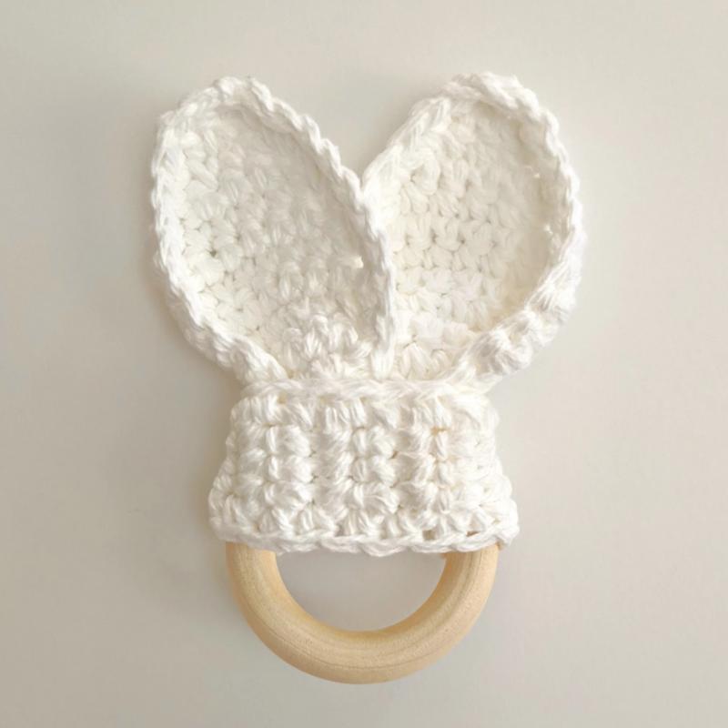 LameMaker Crochet Bunny Ear Teether