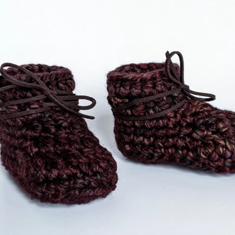 LameMaker Wool Blend Baby Booties (0-6m)
