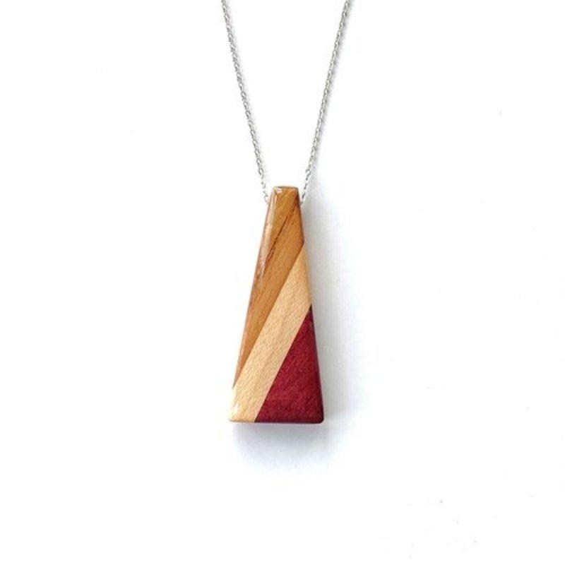 Isosceles Wood Triangle Necklace