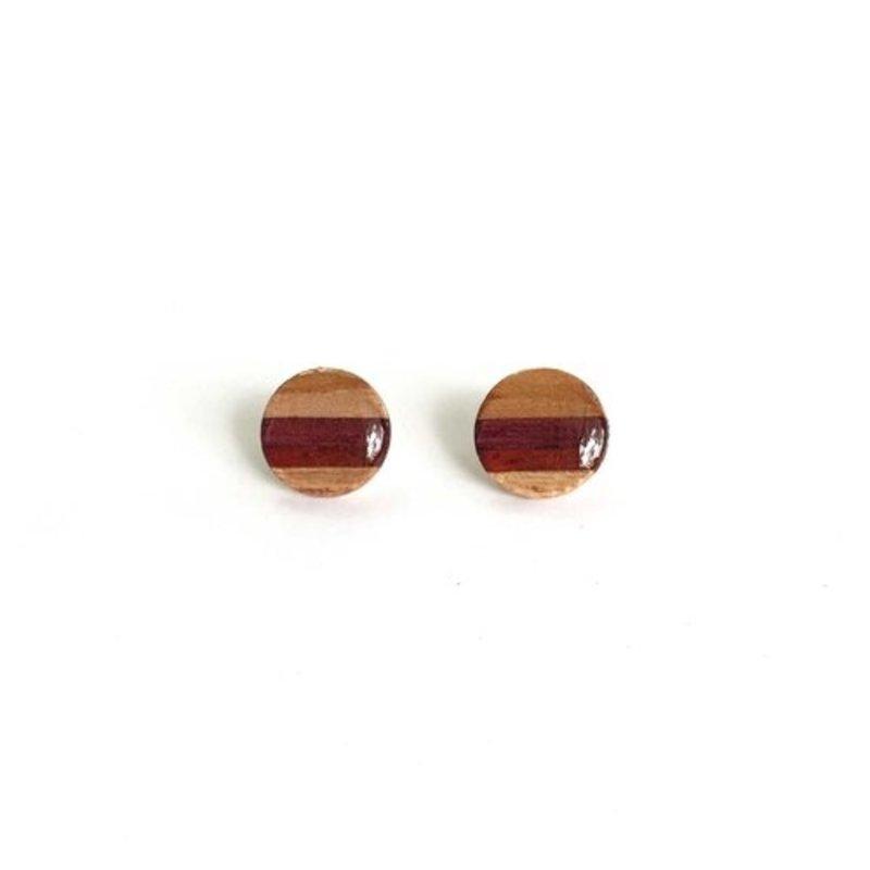 Circle Post Stud Earrings