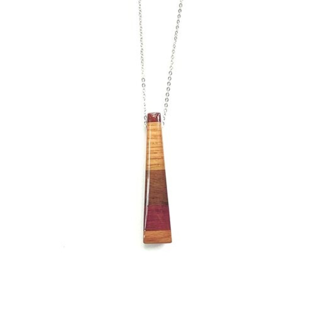 Wood Rectangle Necklace