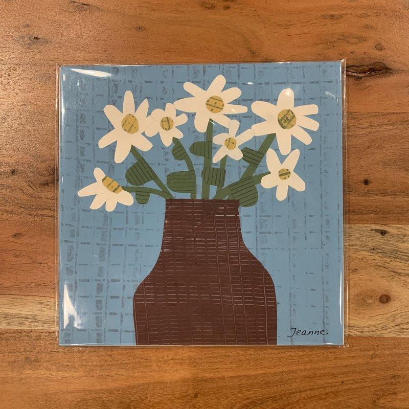 Jeanne Styczinski Daisies Print (8x8)