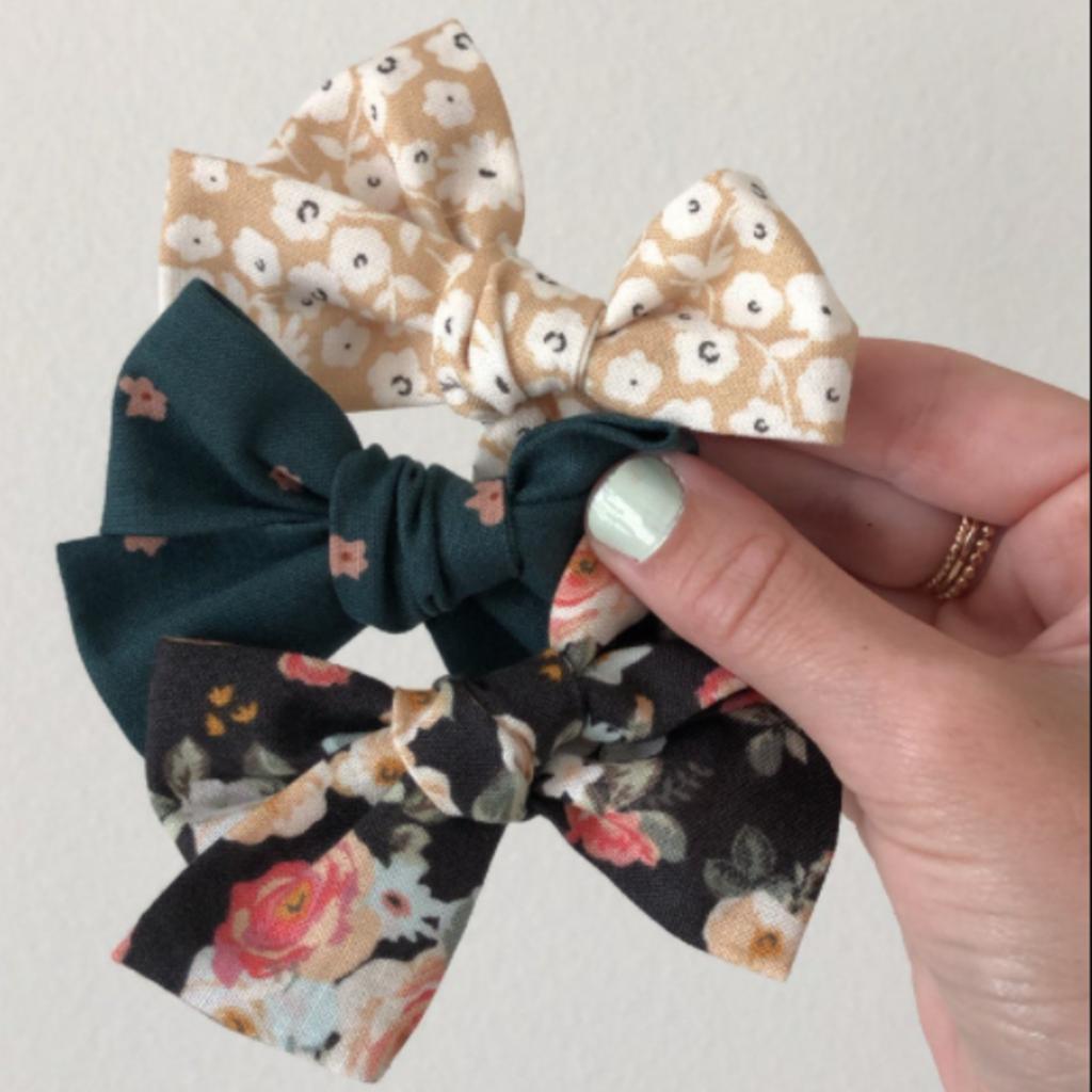 Fabric Bow Clip - Single
