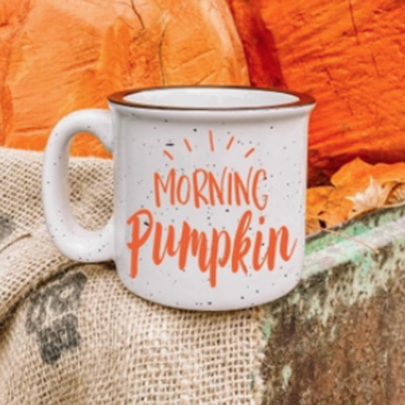 NAP Creations Morning Pumpkin Campfire Mug (Orange & White)