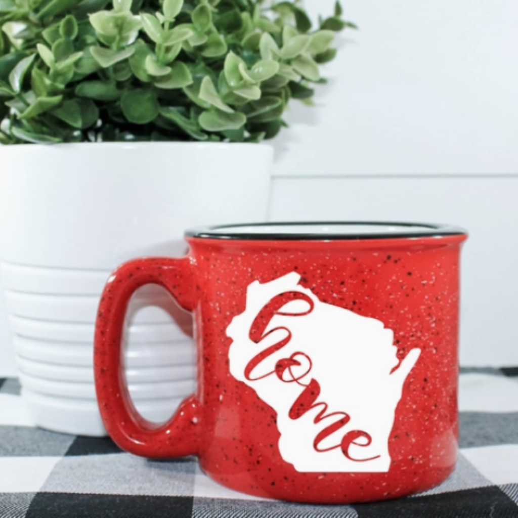 NAP Creations WI Home Campfire Mug (Red)