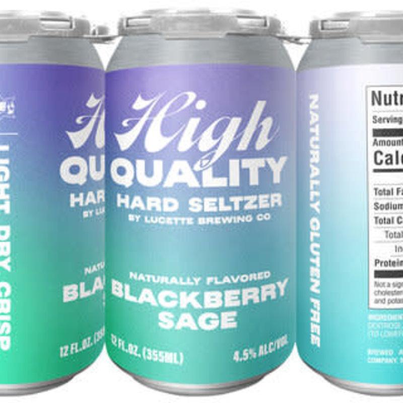 Lucette Brewing Lucette High Quality Hard Seltzer - Blackberry Sage