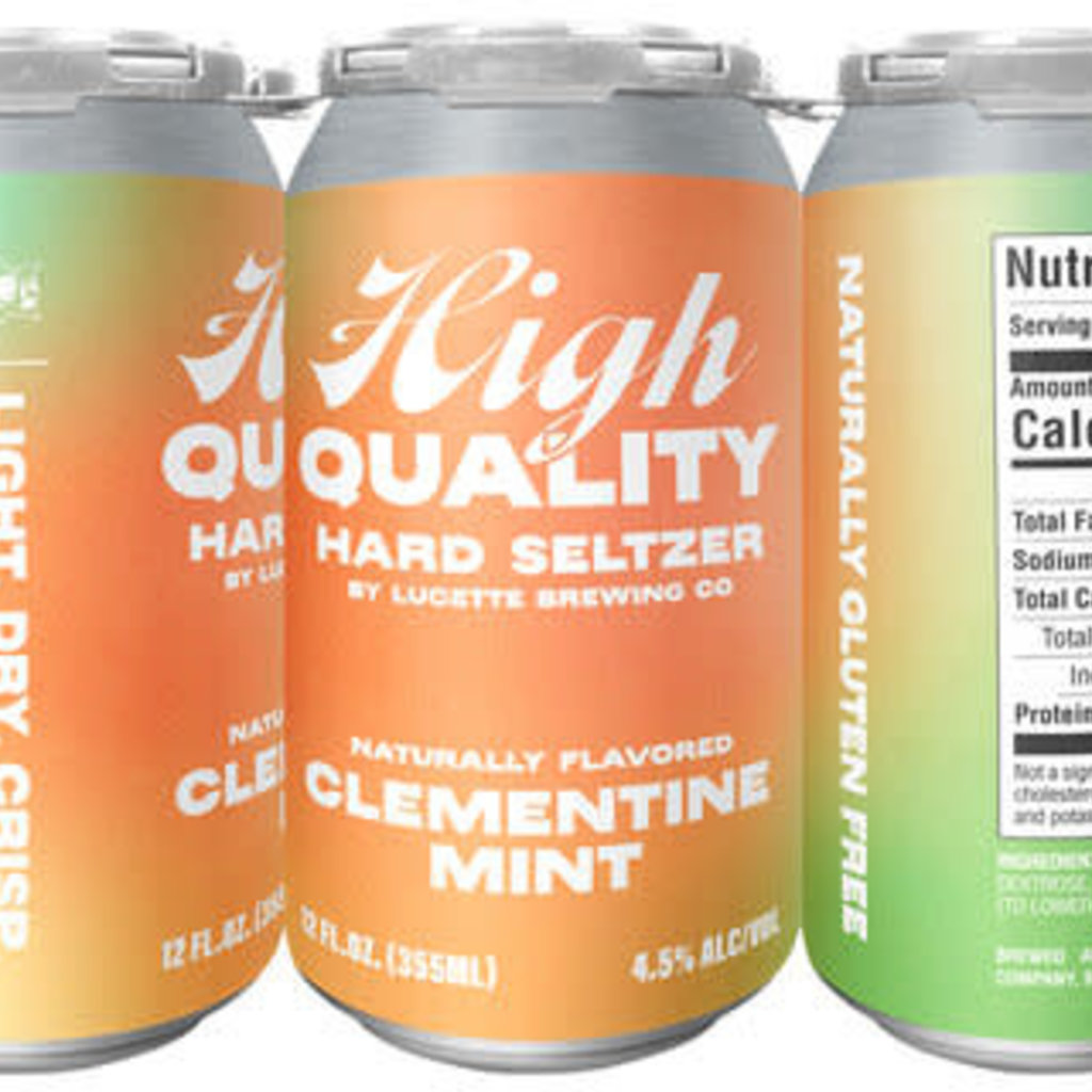 Lucette Brewing Lucette High Quality Hard Seltzer - Clementine Mint