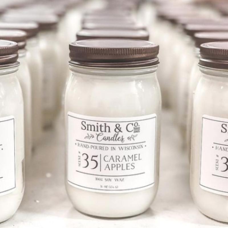 Caramel Apples Large Mason Jar Candle 16 oz