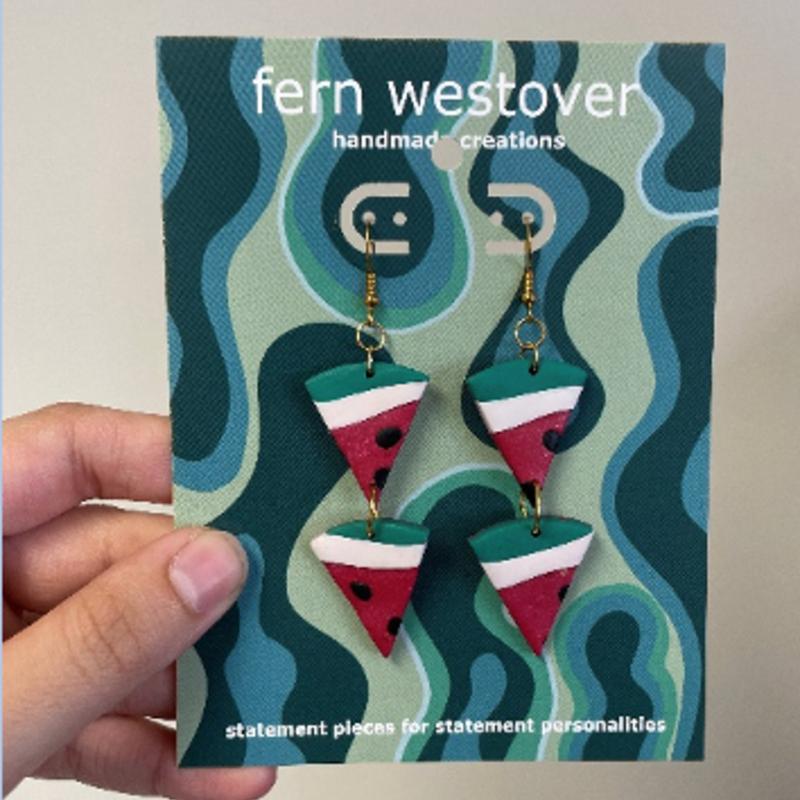 Earrings - Watermelon Duo