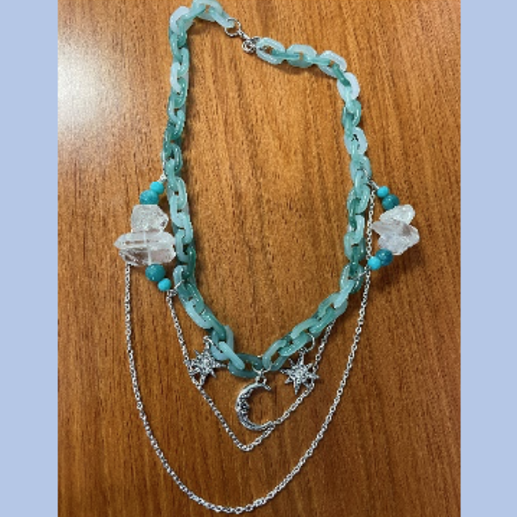 Necklace - Teal Celestial