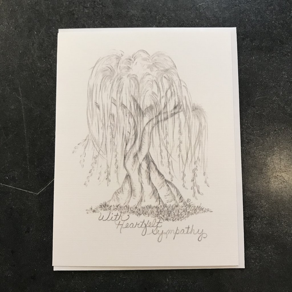Nadine Bresina Heartfelt Sympathy Willow Greeting Card