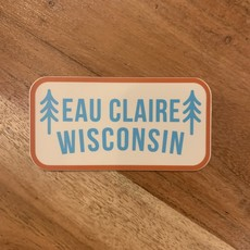 Sticker - Eau Claire Wisconsin (Two Trees)