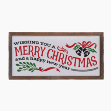 12x6 Wishing You A Merry Christmas And A Happy New Year Sign