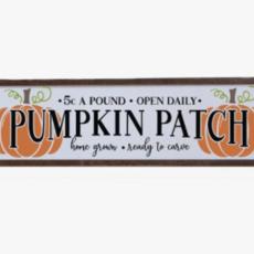 24x6 Pumpkin Patch Home Decor Sign