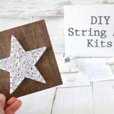 Strung on Nails DIY String Art Kit - Star
