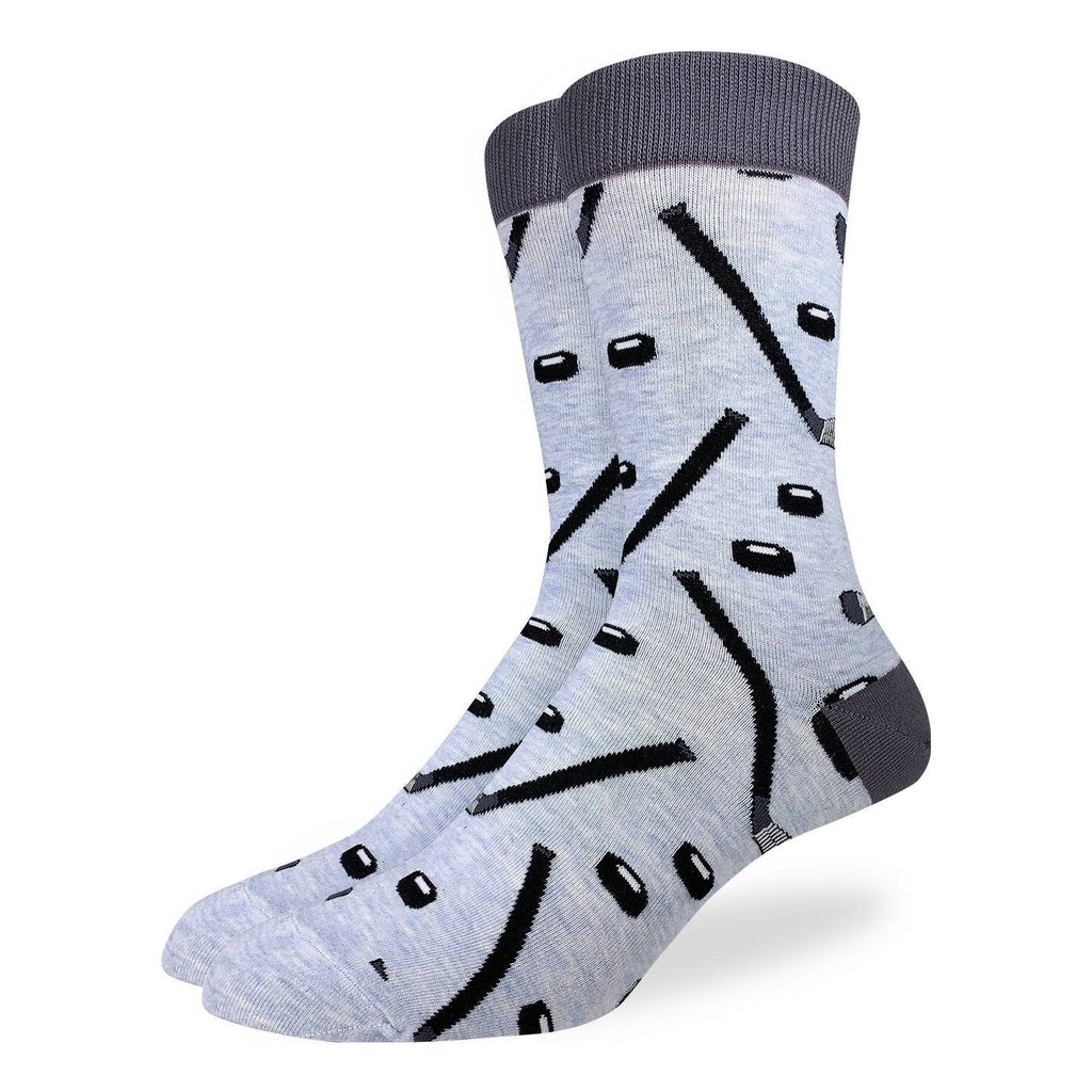 Good Luck Sock Crew Socks - Hockey Sticks & Pucks