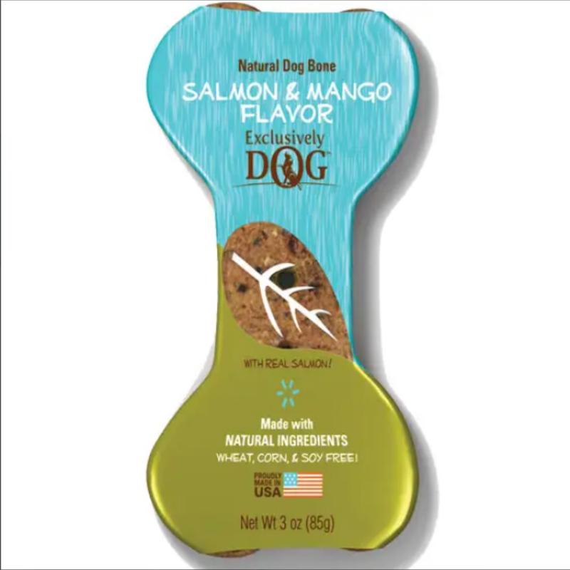 Dog Treat - Salmon & Mango Flavor 3 Oz. Bone