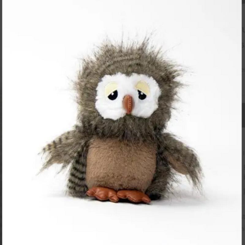 Dog Toy - Fuzzy Owl