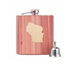 Woodchuck Wood Flask - Cedar (Wisconsin)
