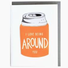 Cracked Designs Greeting Card - Koozie Love