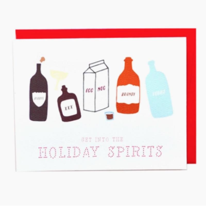 Cracked Designs Greeting Card - Holiday Spirits