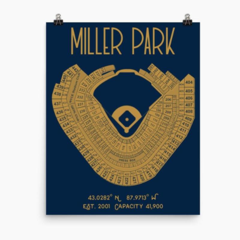 Milwaukee Brewers Miller Park Stadium Print