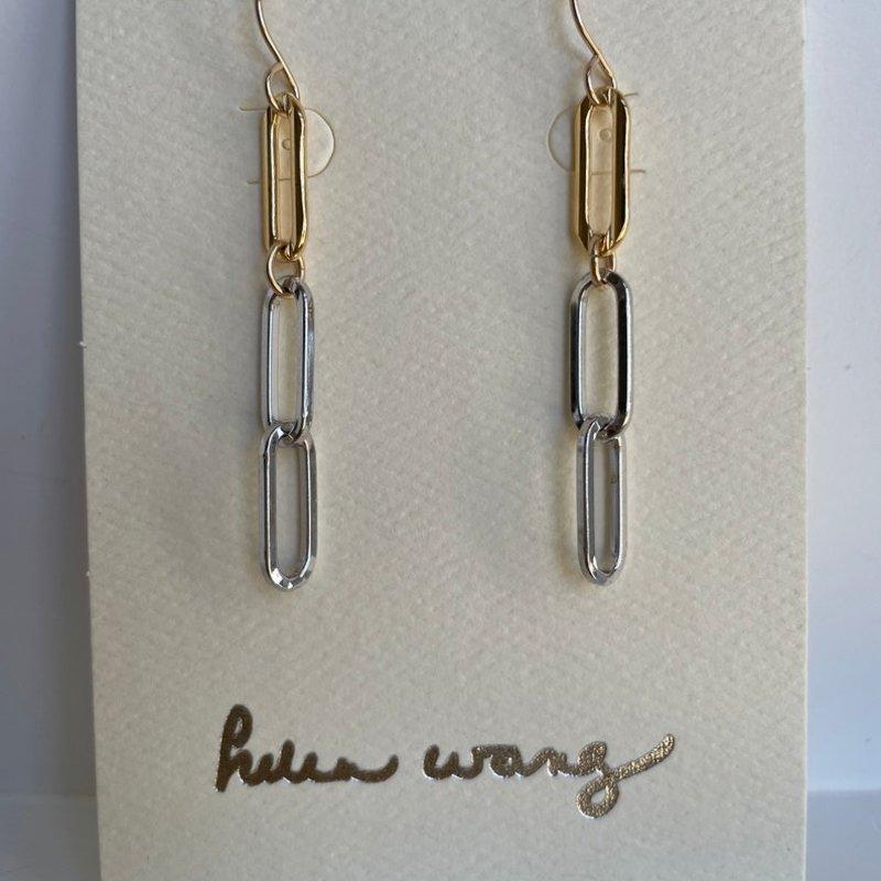 Helen Wang Jewelry Earrings - 14K Gold Filled Oblong Links