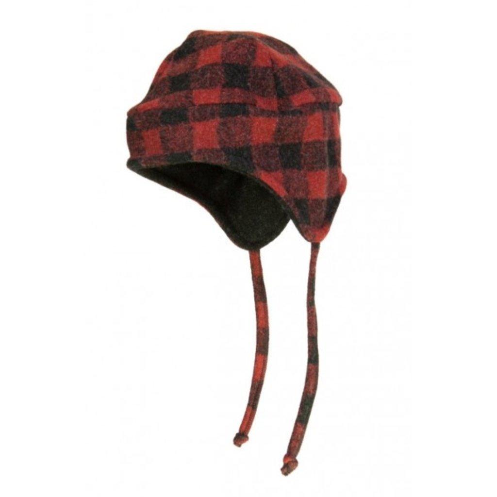 Flap Hat - Red Buffalo Plaid