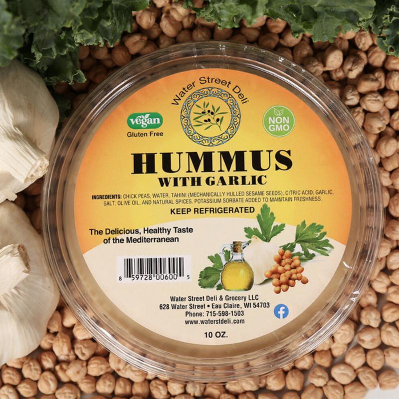 Water Street Deli Hummus w/ Garlic (10 oz.)