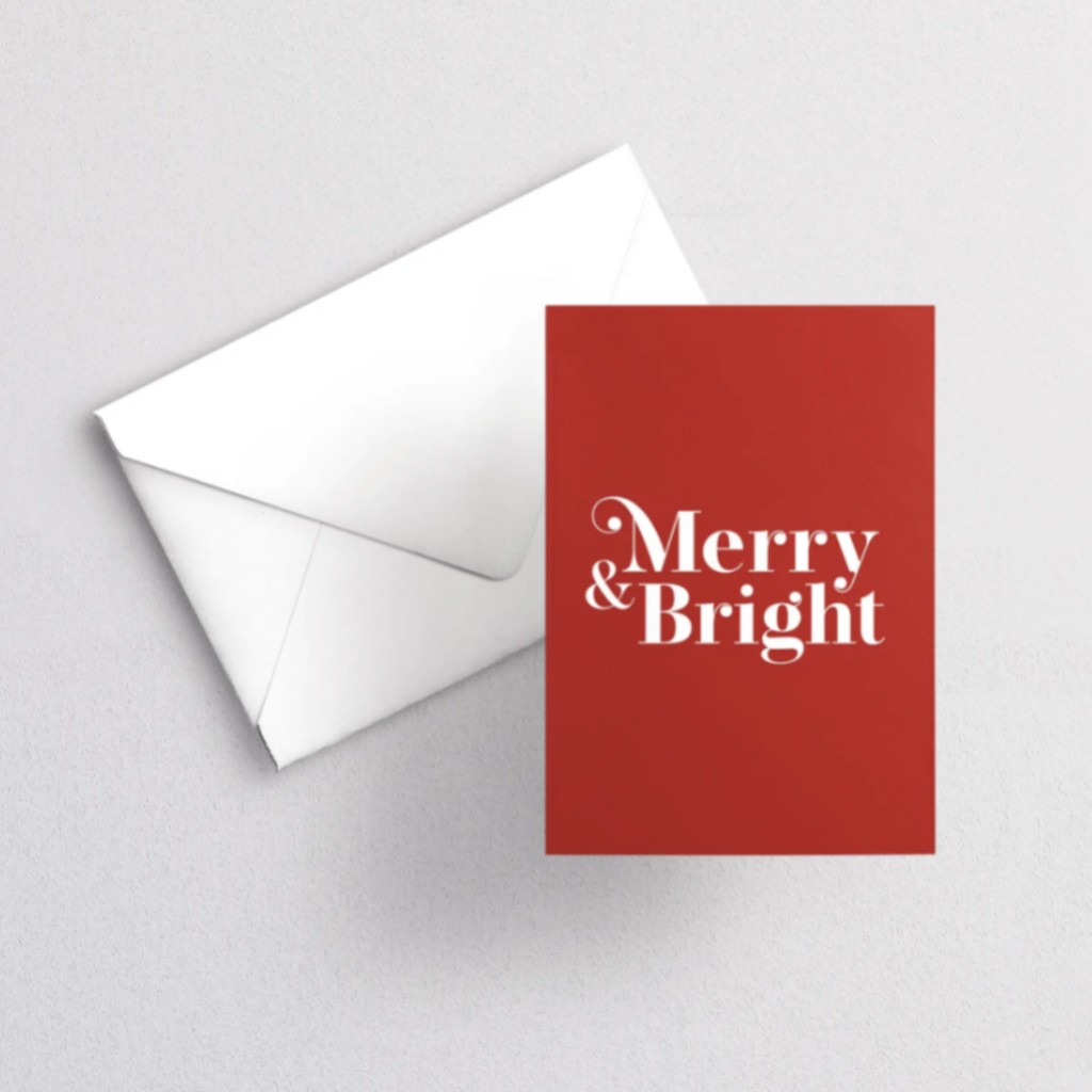 Greeting Card - Merry & Bright
