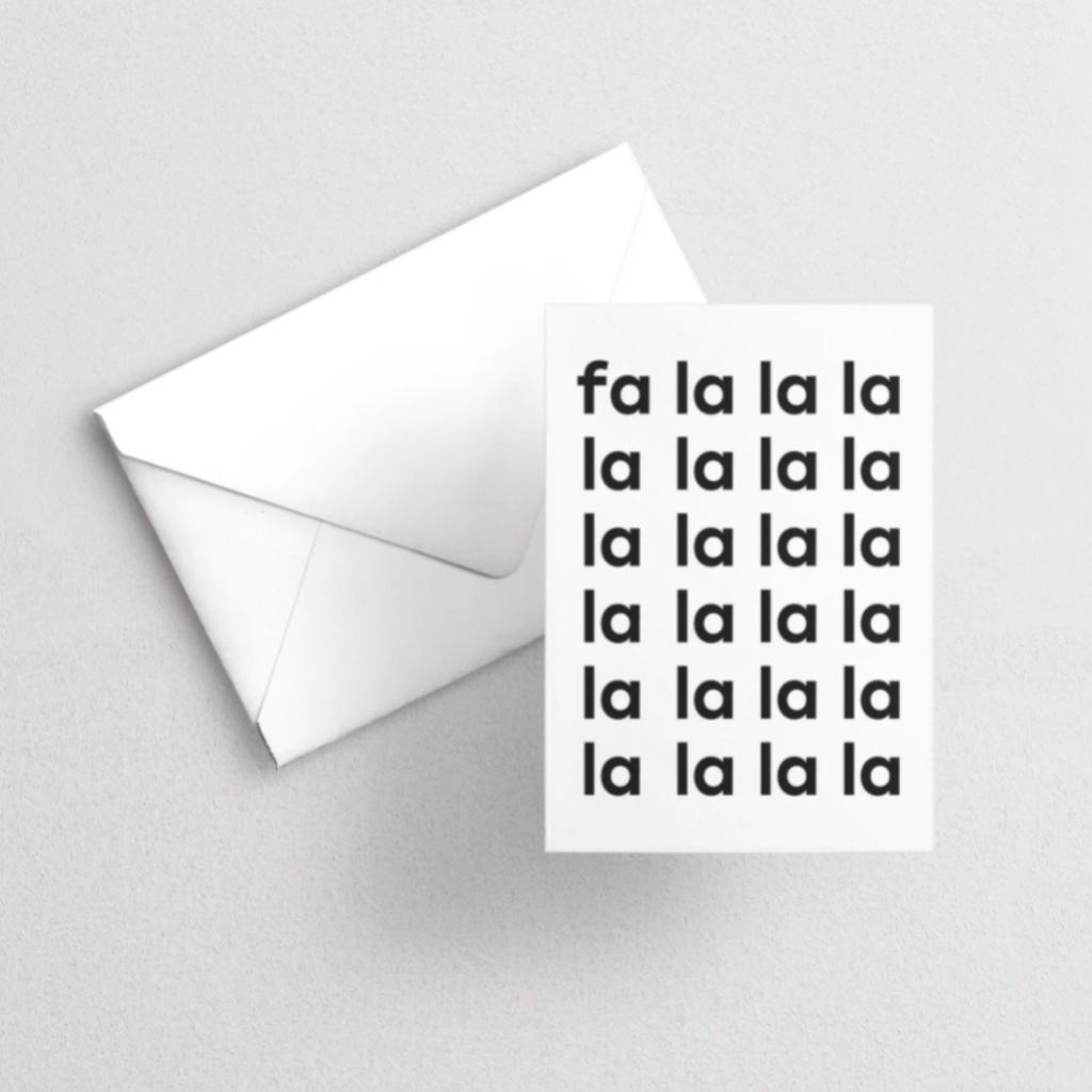 Greeting Card - Fa La La La