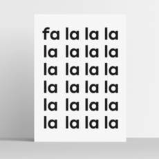 Fa La La La Print 8x10