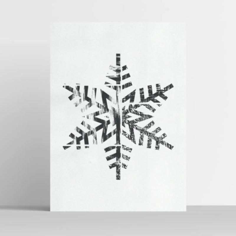 Snowflake Illustrations Print 11x14