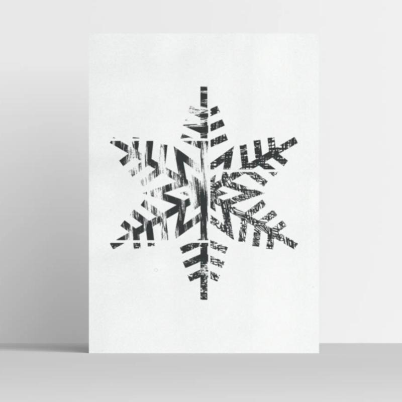 Snowflake Illustrations Print 8x10
