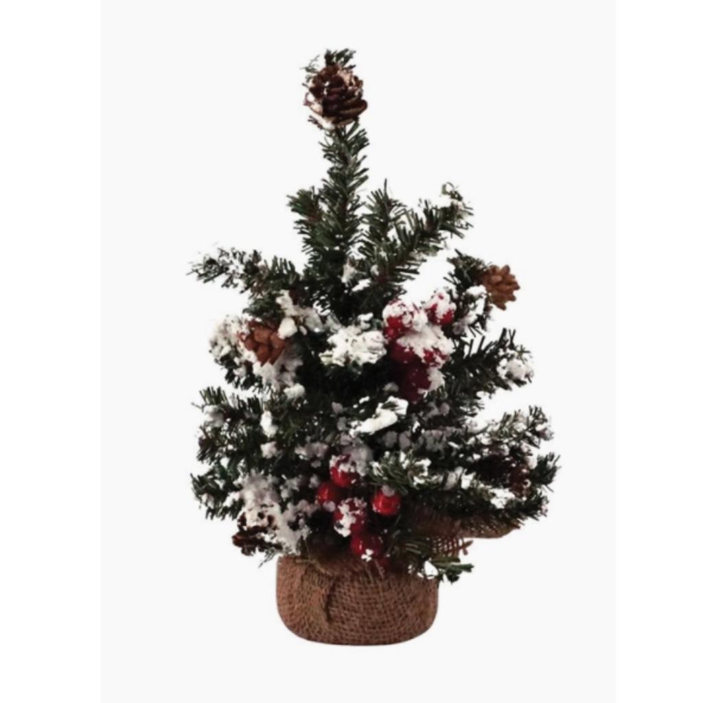 Small Snowy Pine W/Berries