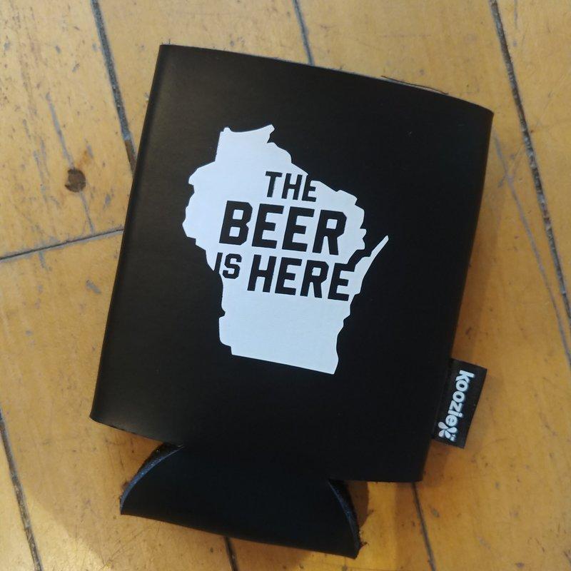 Volume One Black Koozie - The Beer is Here (Wisconsin)