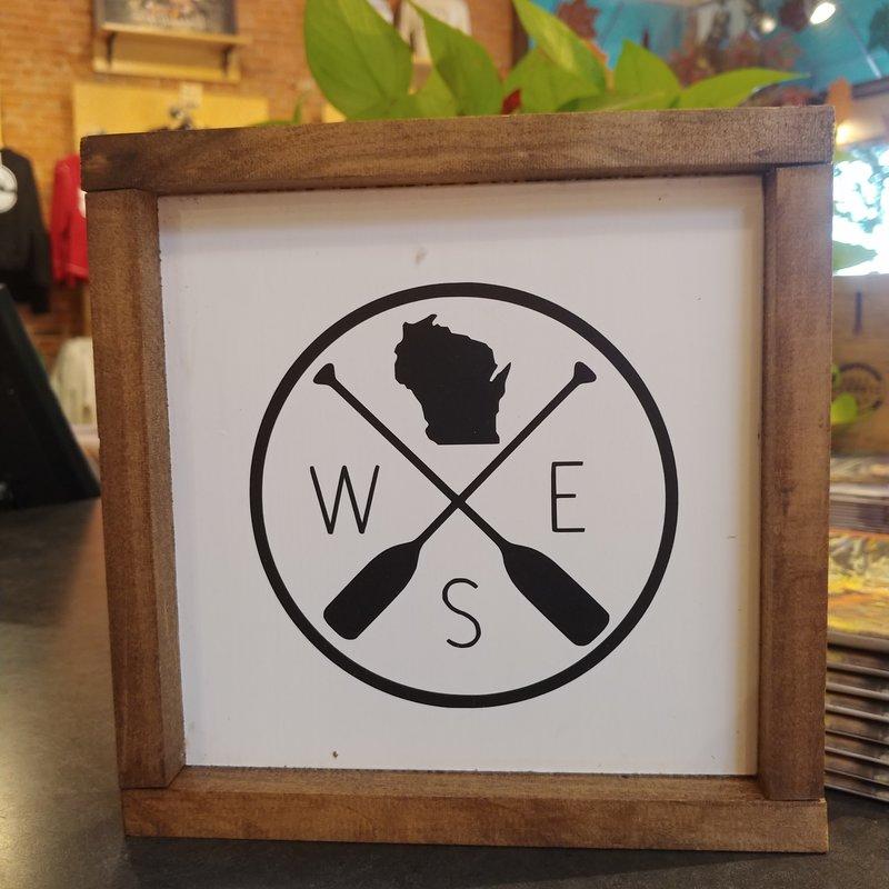 Framed Sign - Wisconsin Paddles