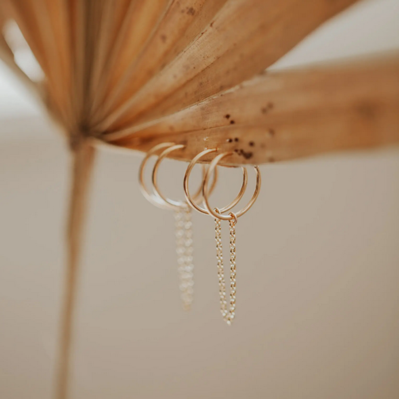 Hello Adorn Jewelry Handcuff Hoop Earrings - Gold