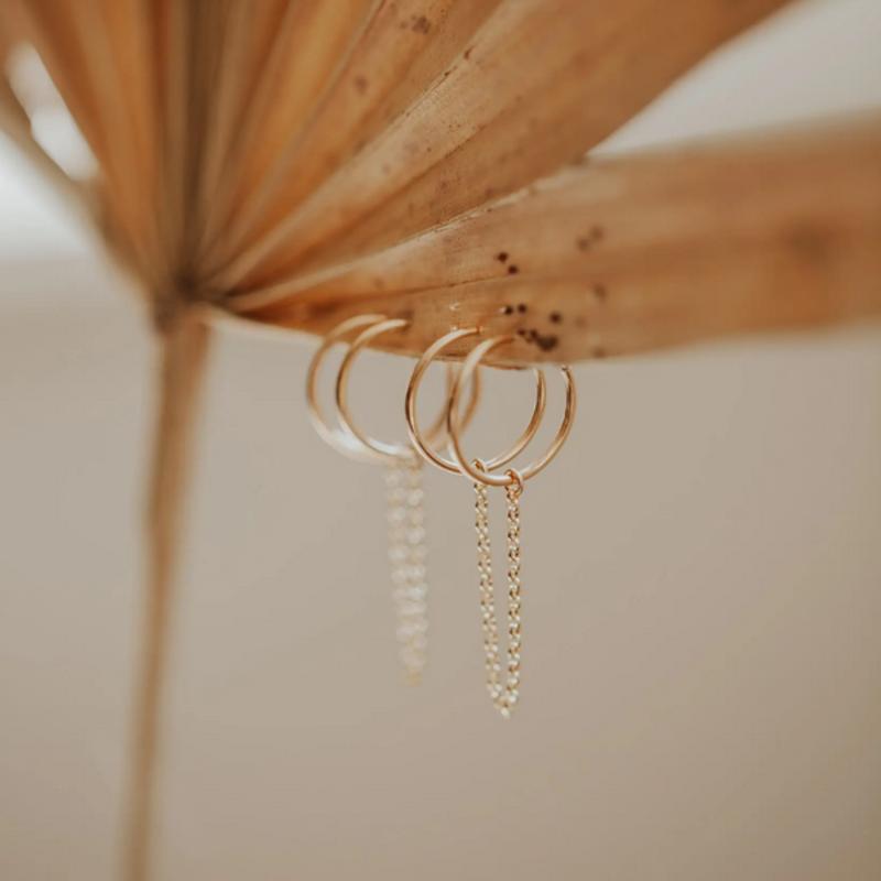 Hello Adorn Jewelry Handcuff Hoop Earrings - Silver