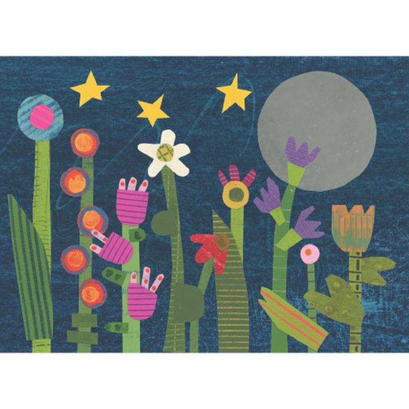 Jeanne Styczinski Greeting Card - Night Garden