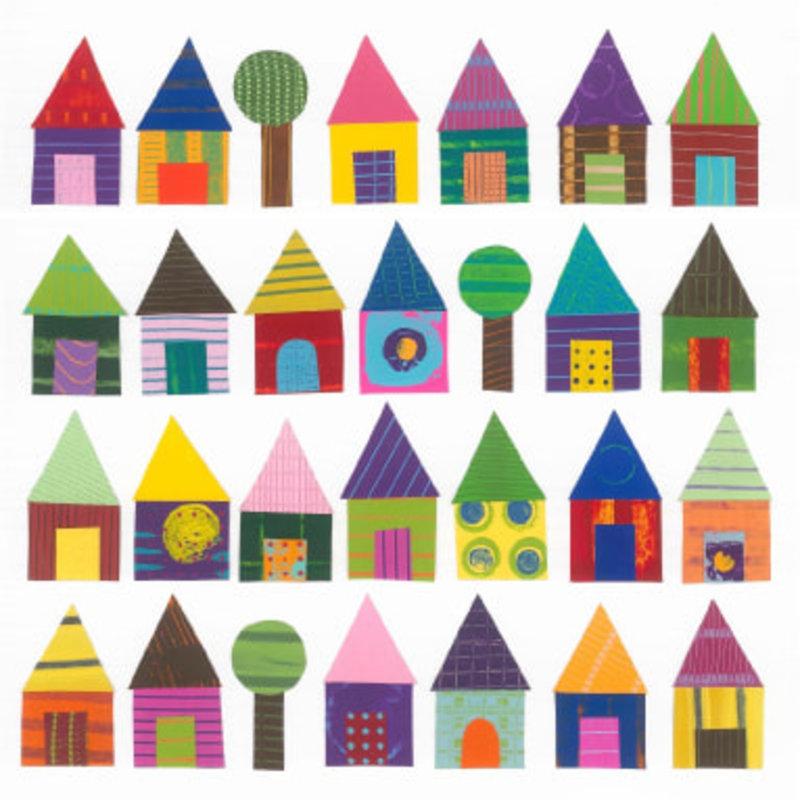 Jeanne Styczinski Greeting Card - Houses