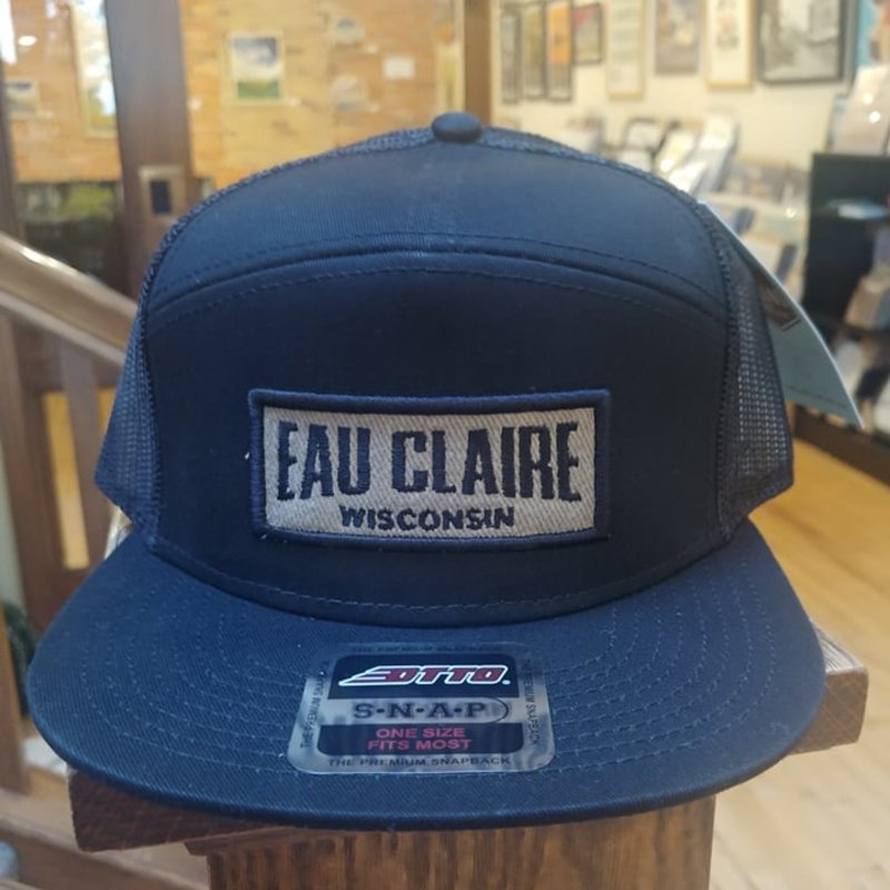 Volume One Black 7-Panel Applique Hat - Eau Claire, Wisconsin