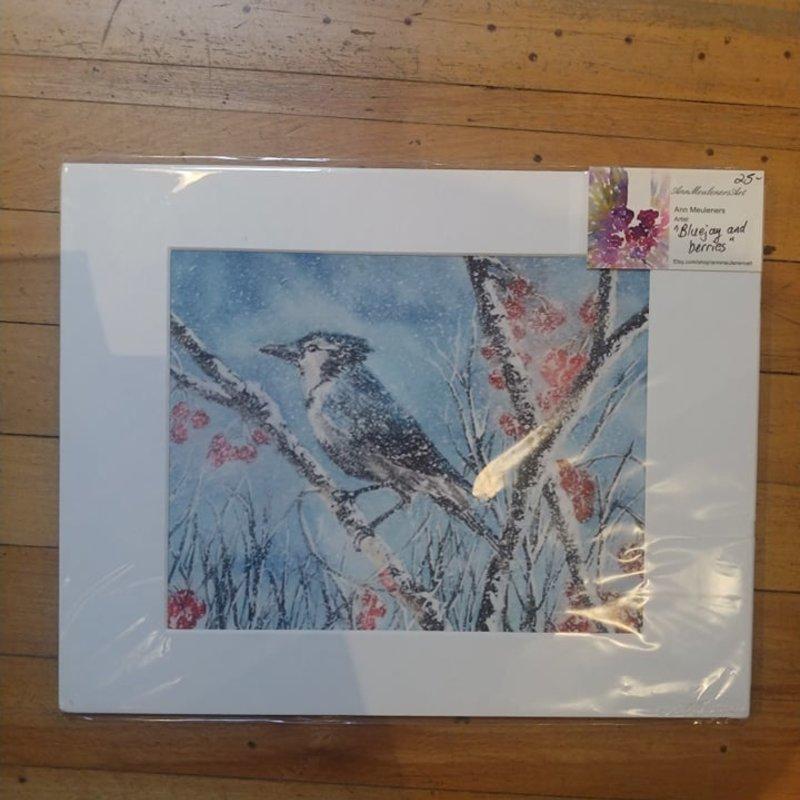 Winter Bluejay Print (8x10)